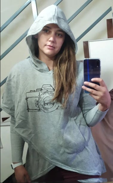 Wanderlust Camera Hooded Pullover For Woman
