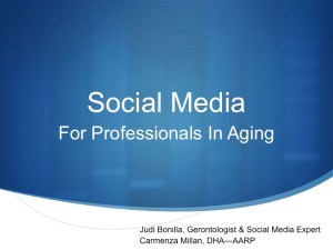 Social Media Session For Professionals in Aging