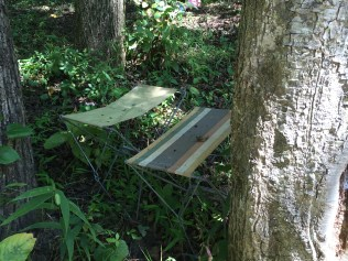 Trespasser's fishing stools.