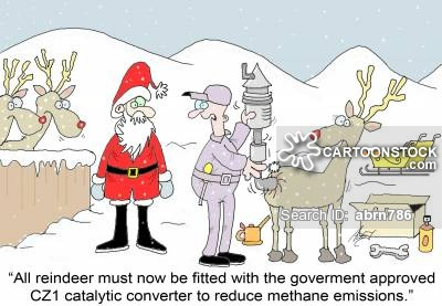 'Reindeer must now be fitted with the government approved CZ1 catalytic converter to reduce methane emissions.'