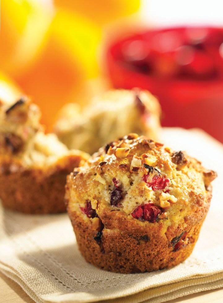 Cranberry-Orange Pecan Muffins