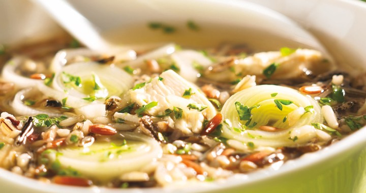 Gingery Chicken andWild Rice Soup (page 76)