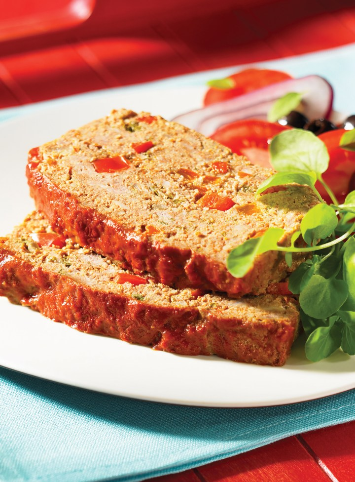 Peppery Meatloaf with Couscous