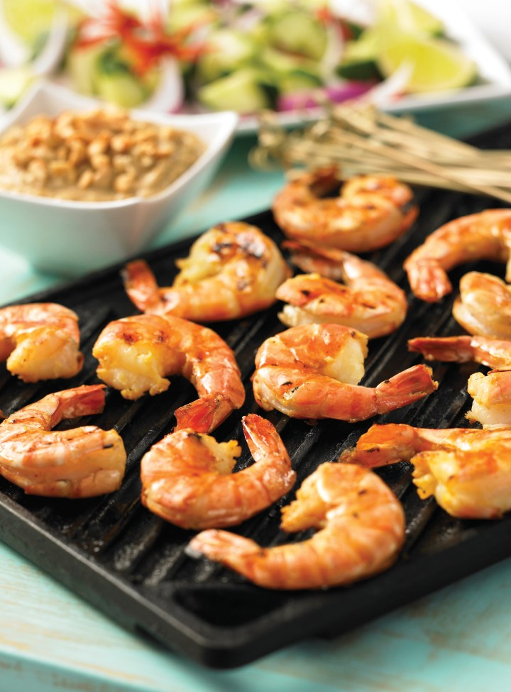 Southeast Asian--Style Grilled Shrimp