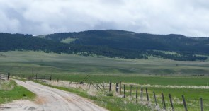 Lonely road in Montana