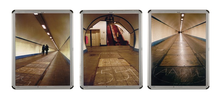 marelle, tunnel, craie, Anvers, Judith Millot
