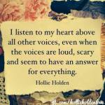 I listen to my heart by H. Holden
