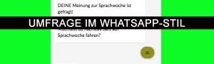 Umfrage mit Acquainted im WhatsApp-Stil