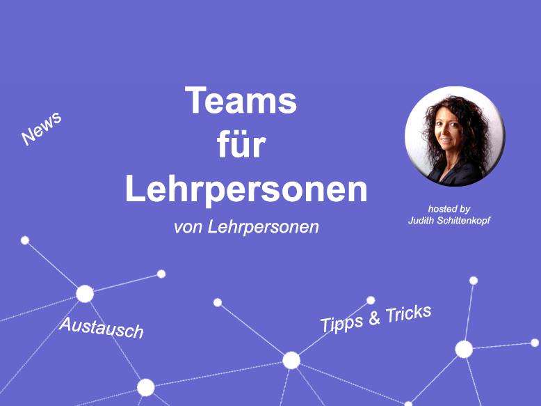 """Facebookgruppe """"Teams für Lehrpersonen"""""""