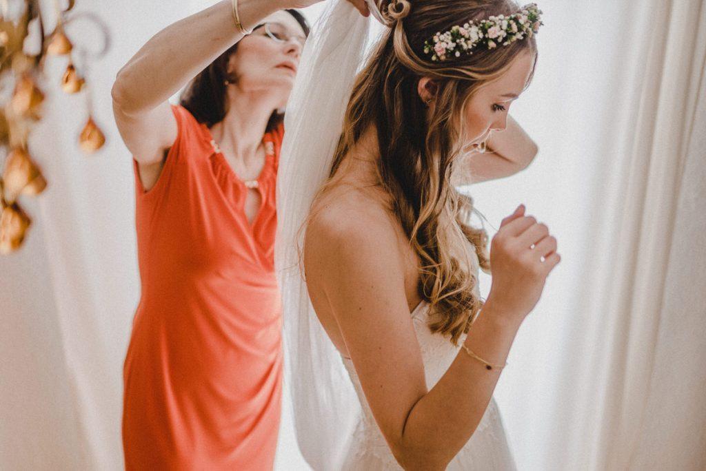 Getting Ready am Tag der Hochzeit