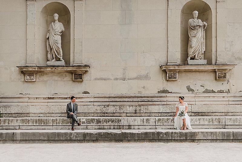 Hochzeitsfotos am Königsplatz in München