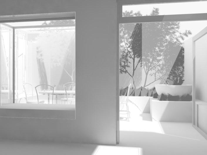 Small urban garden in Wimbledon 3D CAD view