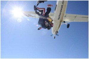 photo of sky diving