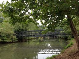 Footbridge across the Chattahoochee from Riverside Park