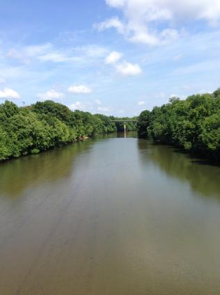 View from the Otis Redding Bridge, Macon