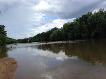 Beach on the Ocmulgee River