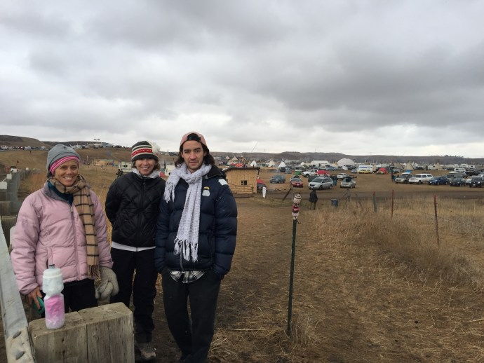 At Standing Rock with my sister and son