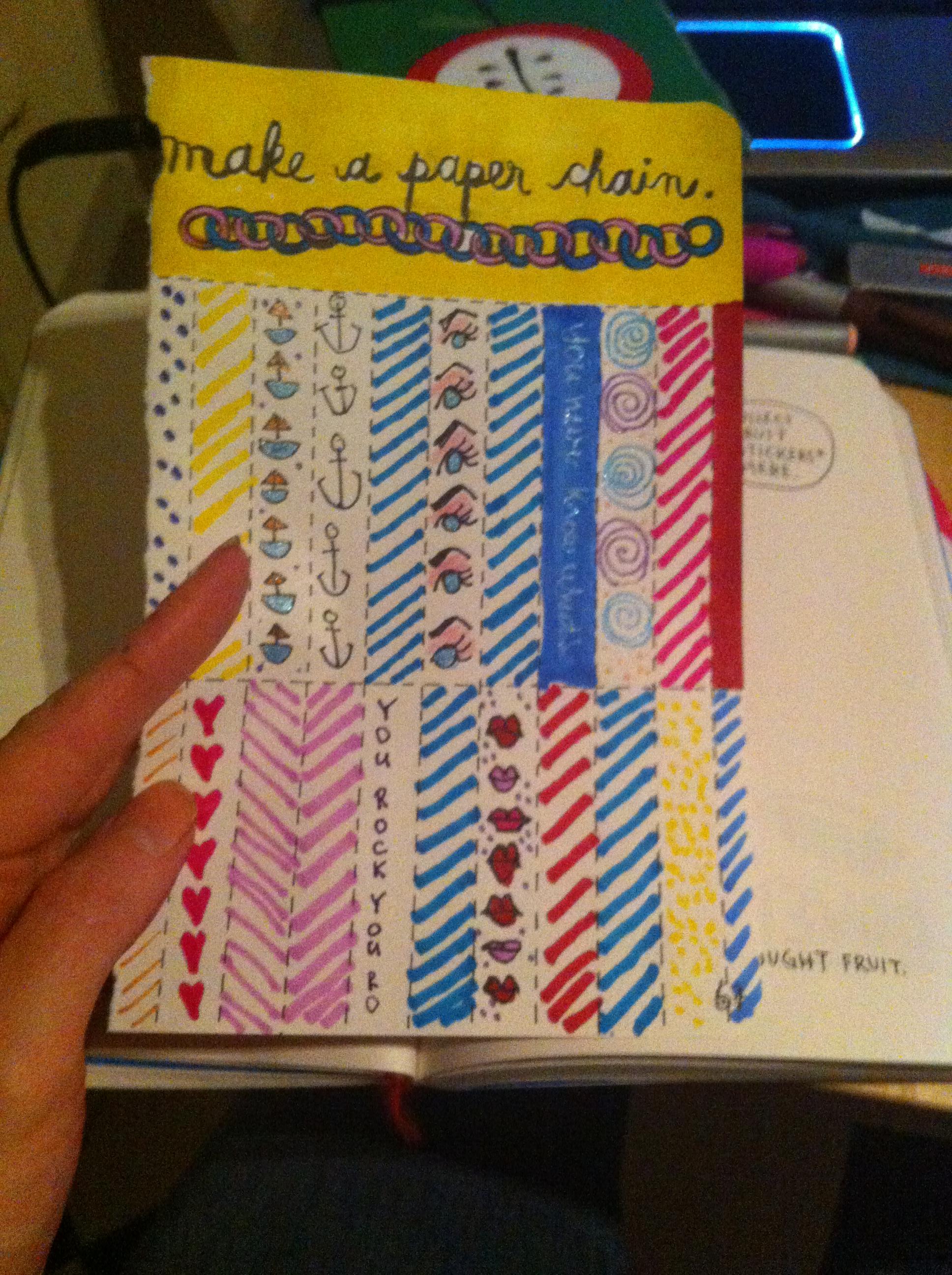 Make Paper ChainsWreck This Journal Judyattitudy