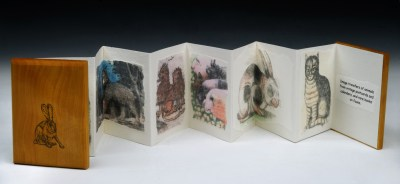 Lovely Creatures, Accordion Binding, Detail