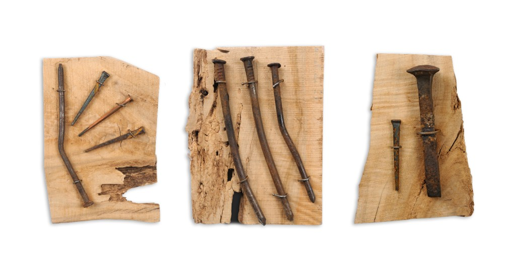 Old Railroad Nails, Sizes range from between 9 and 5 inches