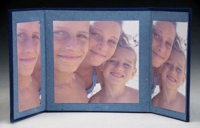 Beach Children. Triptych