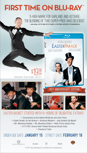 Judy Garland & Fred Astaire in Easter Parade - Blu-ray announcement flyer