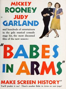 Judy Garland and Mickey Rooney in an ad for MGM's 1939 musical