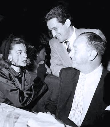 Judy Garland, Perry Como, and Arthur Freed at the Mocambo April 18, 1948