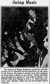 Benny Goodman on Jack Oakie's College Radio Show April 20, 1937