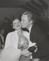 Judy Garland and Van Johnson at Romanoff's after Garland's Los Angeles Philharmonic opening night April 21, 1952