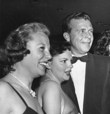 Judy Garland, June Allyson, and Dick Powell at Romanoff's after Garland's Los Angeles Philharmonic opening night April 21, 1952