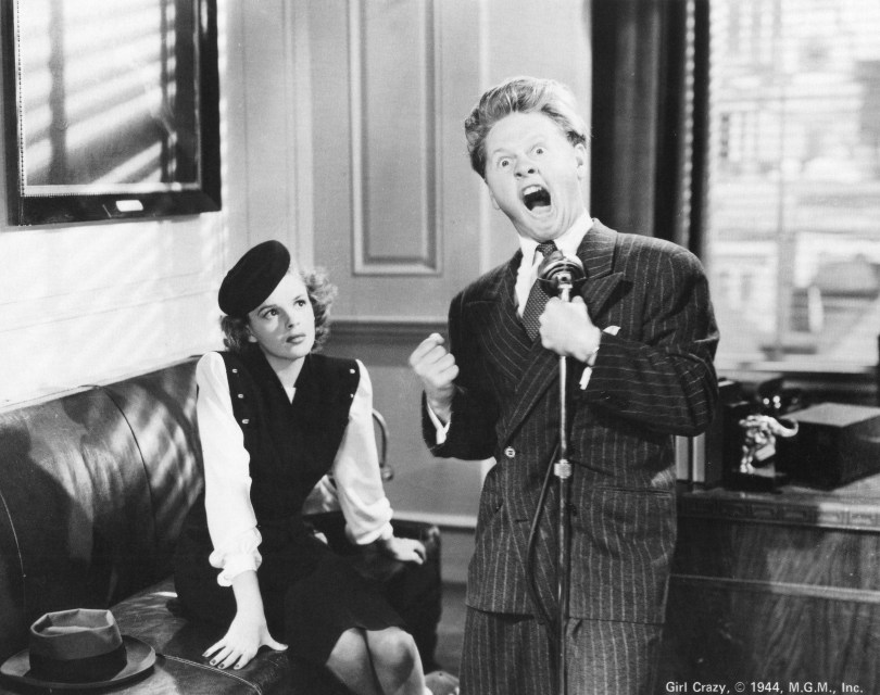 "Judy Garland and Mickey Rooney in ""Girl Crazy"""