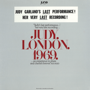 "Judy. London. 1969. by Juno Records - Judy Garland's ""last"" performance"