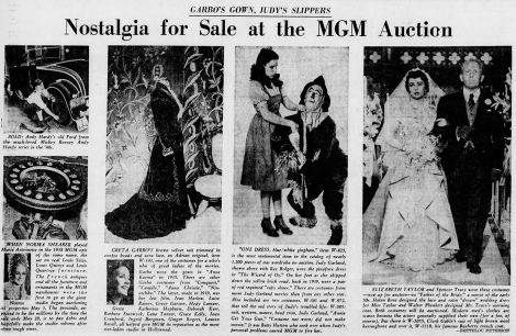 The 1970 MGM Auction - Judy Garland's Ruby Slippers and Gingham Dress