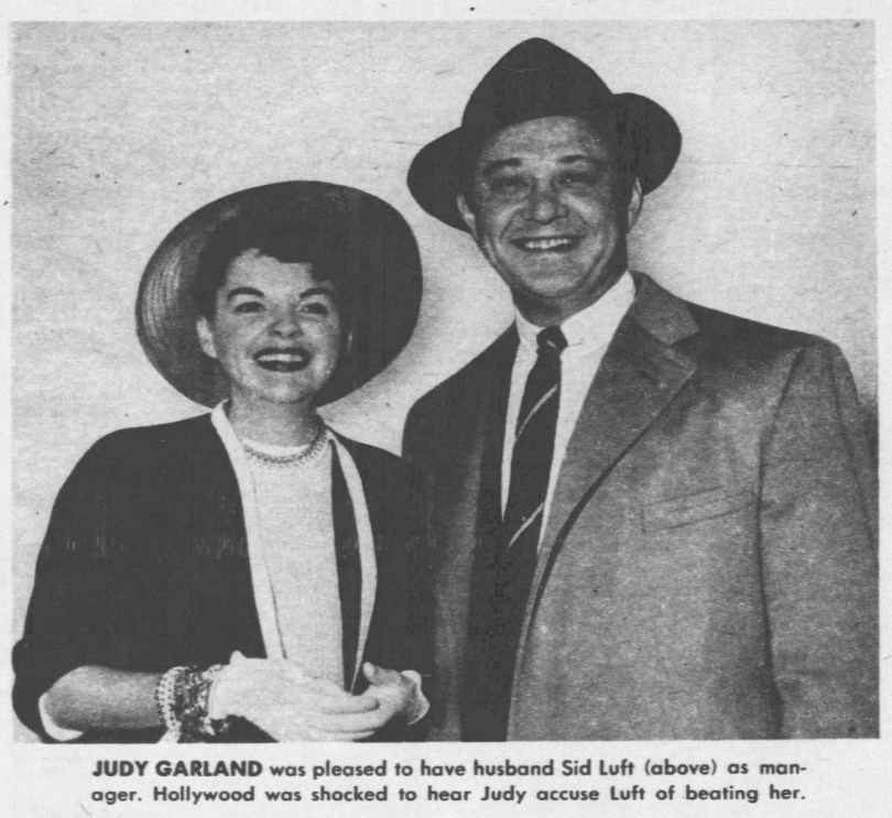 Judy Garland and Sid Luft 1958