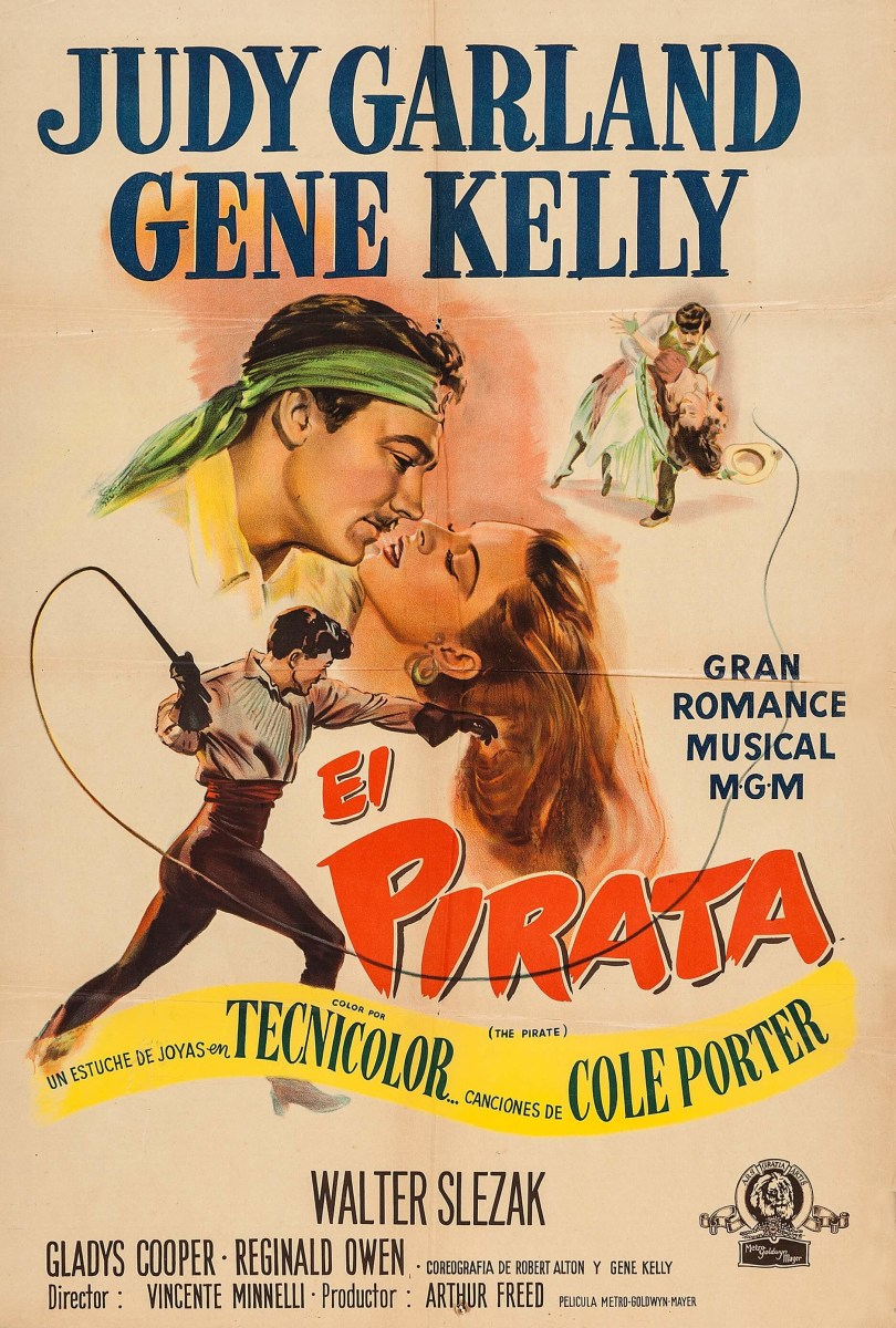 "Judy Garland and Gene Kelly in ""The Pirate"" (El Pirata) - Argentinian poster 1949"