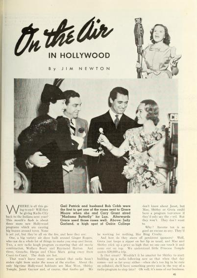 June 1, 1937 Photoplay Oakie College mention 1