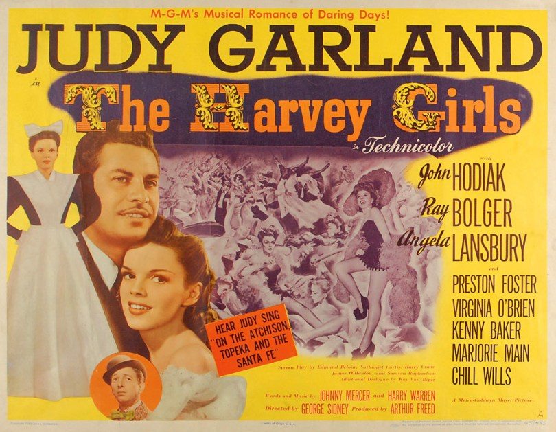 The Harvey Girls starring Judy Garland - half sheet poster