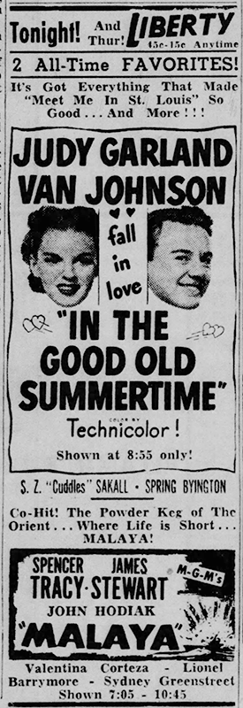 Judy Garland and Van Johnson in
