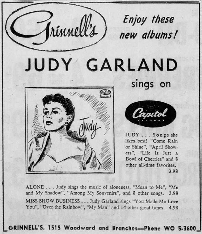 Judy Garland on Capitol Records