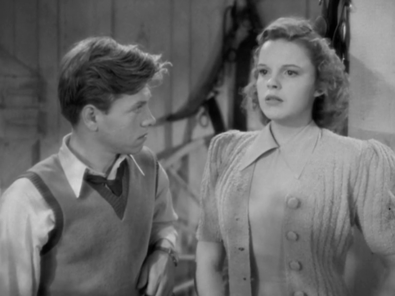 Judy Garland and Mickey Rooney in