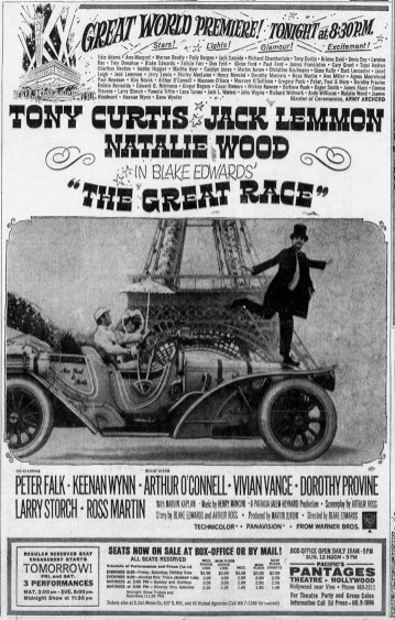 The Great Race The_Los_Angeles_Times July 1, 1965 CROP
