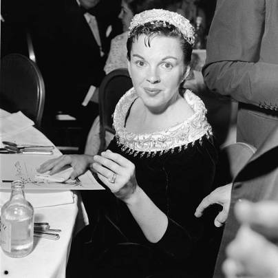 Judy Garland At The Premiere Of 'A Star Is Born'