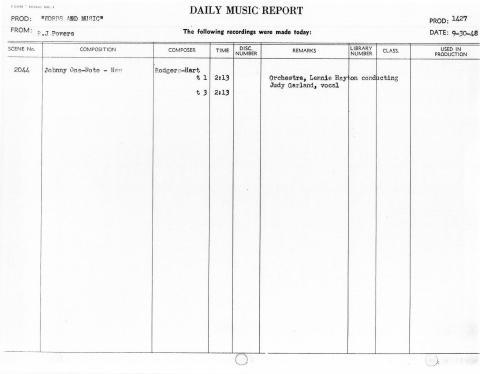 September 30, 1948 Johnny One Note
