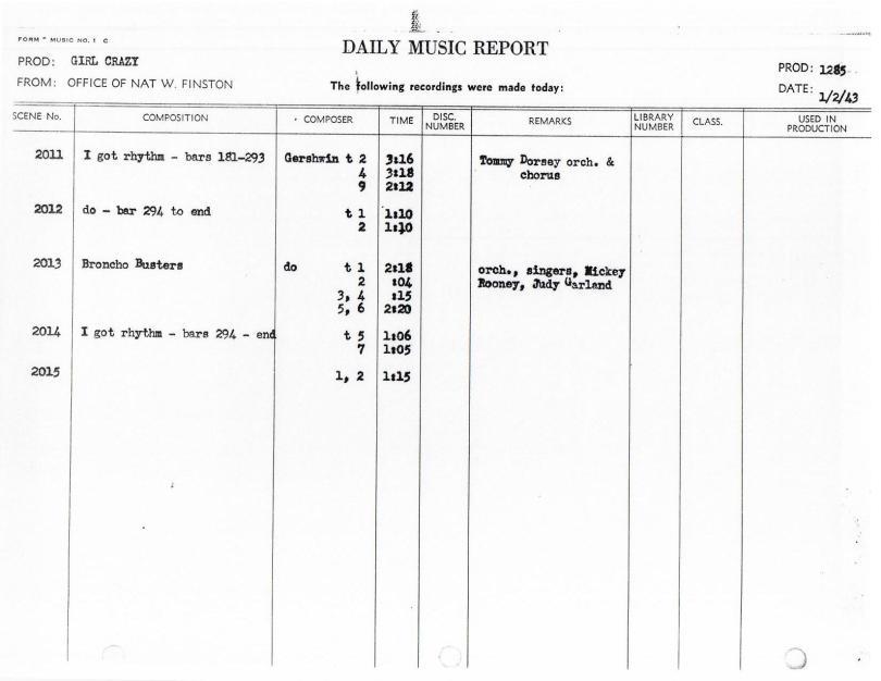 January 2, 1943 Broncho Busters I Got Rhythm