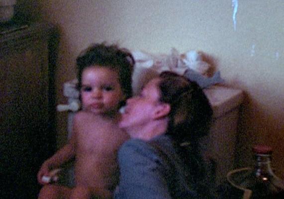 Judy Garland potty trains Liza Minnelli