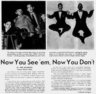 January 24, 1965 HISTORY OF MOVIE MUSICALS Oakland_Tribune 1
