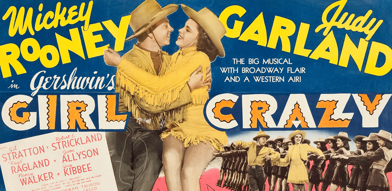 "Judy Garland and Mickey Rooney in ""Girl Crazy"" on Blu-ray from the Warner Archive"