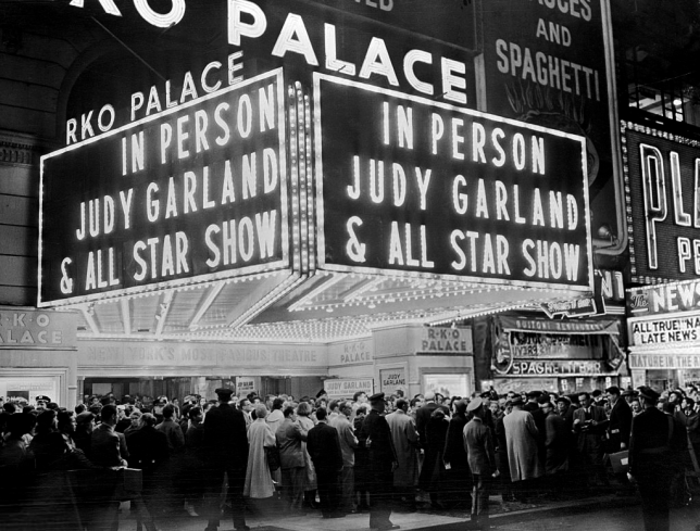 Judy Garland at the Palace