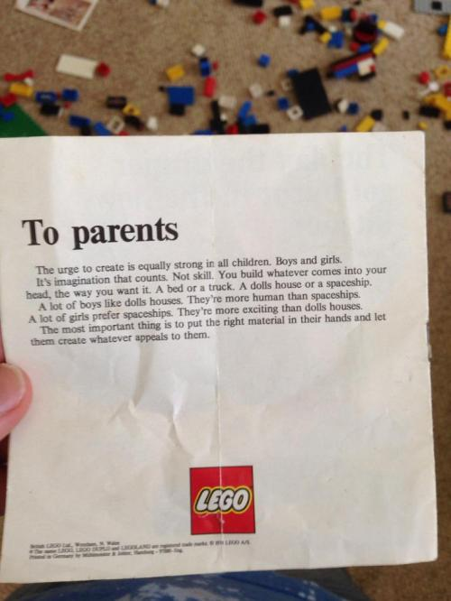 lego to parent